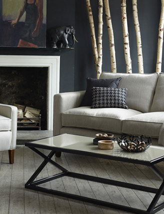 Contemporary sofa & Draycott chair