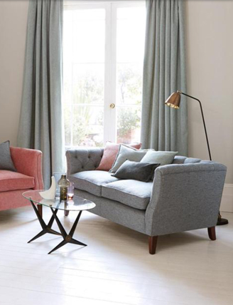 Mortimer Buttoned Sofa and Mortimer Chair
