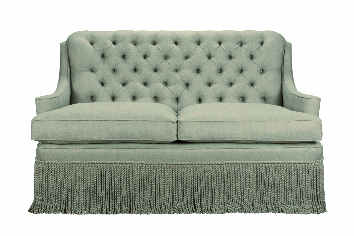 Onslow Buttoned Sofa with Fringe