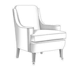 High Back Onslow Chair with Georgia Legs