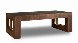 Soho Coffee Table with Brass