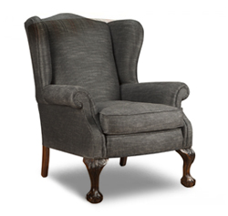 Wing Chair, Carved Leg