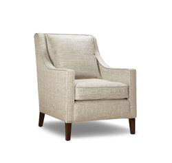 A Pair of Draycott Chairs in fabric by Christian Fischbacher